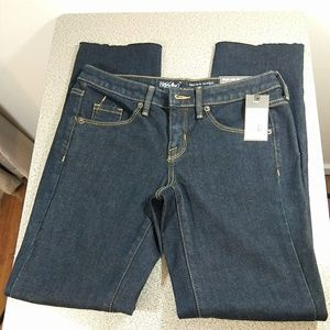 Mossimo Mid Rise Straight Leg Raw Hem Crop Jeans